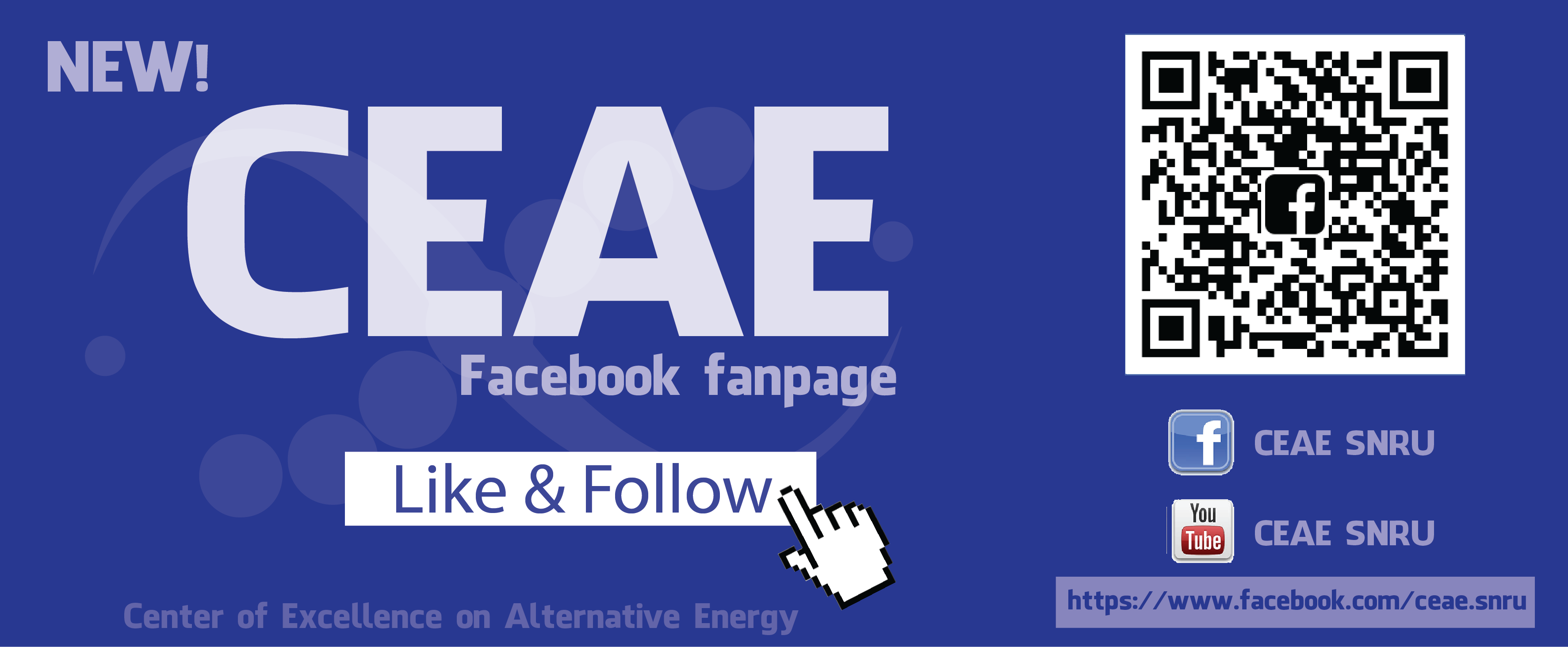 New!! Fanpage of Center of Excellence on Alternative Energy – CEAE